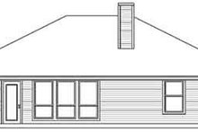 Southern Exterior - Rear Elevation Plan #84-202