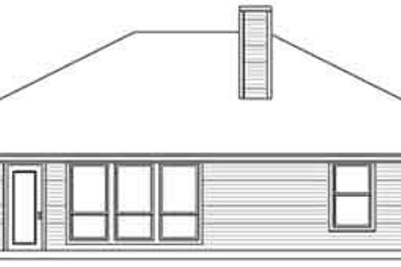 Southern Exterior - Rear Elevation Plan #84-202 - Houseplans.com