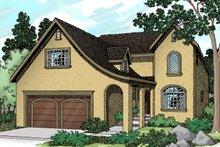 Architectural House Design - European Exterior - Front Elevation Plan #124-362