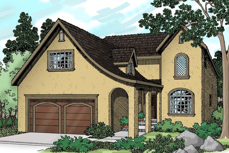 Home Plan - European Exterior - Front Elevation Plan #124-362