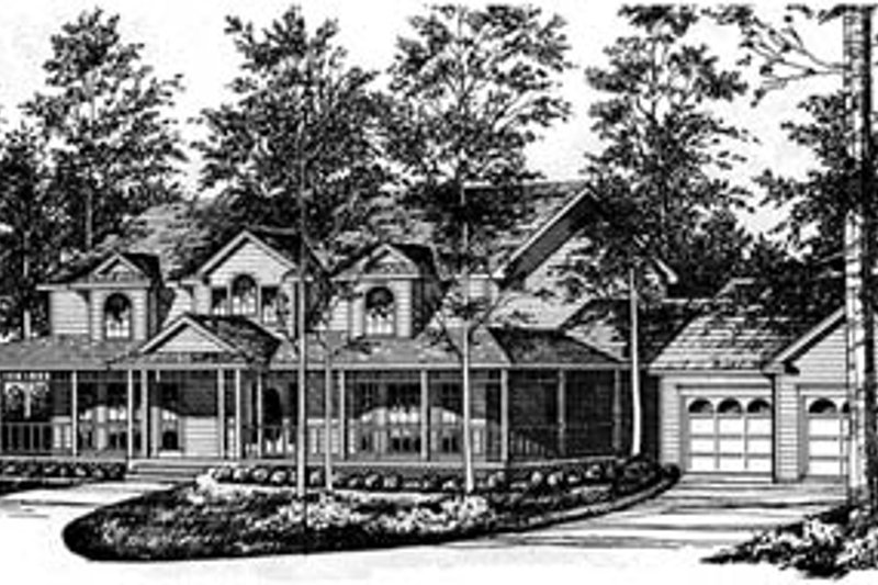 Traditional Exterior - Front Elevation Plan #40-151