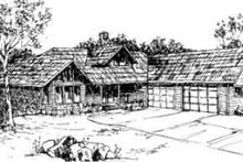House Plan Design - Traditional Exterior - Front Elevation Plan #117-204