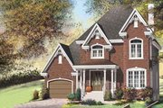 European Style House Plan - 2 Beds 1.5 Baths 1418 Sq/Ft Plan #25-4182 Exterior - Front Elevation