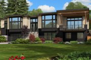 Contemporary Style House Plan - 4 Beds 3 Baths 4366 Sq/Ft Plan #132-226 Exterior - Rear Elevation