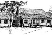 Ranch Style House Plan - 3 Beds 2 Baths 1688 Sq/Ft Plan #10-133 Exterior - Front Elevation