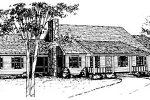 Ranch Exterior - Front Elevation Plan #10-133