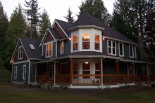 Home Plan - Front View - 2500 square foot Victorian home