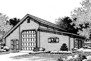 Traditional Exterior - Front Elevation Plan #45-264