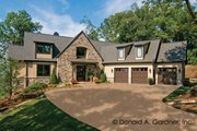 European Style House Plan - 4 Beds 3.5 Baths 2949 Sq/Ft Plan #929-41 Exterior - Front Elevation