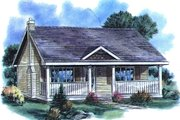 Cottage Style House Plan - 1 Beds 1 Baths 614 Sq/Ft Plan #18-1048 Exterior - Front Elevation