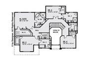 Contemporary Style House Plan - 4 Beds 4.5 Baths 4134 Sq/Ft Plan #1066-16 Floor Plan - Upper Floor Plan