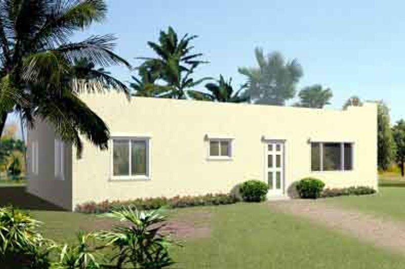 Adobe / Southwestern Style House Plan - 2 Beds 2 Baths 1161 Sq/Ft Plan #1-1059