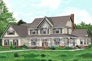 Farmhouse Style House Plan - 5 Beds 2.5 Baths 3005 Sq/Ft Plan #11-125 Exterior - Front Elevation