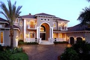 Mediterranean Style House Plan - 5 Beds 5.5 Baths 6780 Sq/Ft Plan #27-216 Exterior - Front Elevation