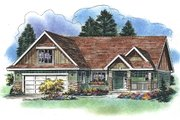 Traditional Style House Plan - 3 Beds 2 Baths 1194 Sq/Ft Plan #18-1054 Exterior - Front Elevation