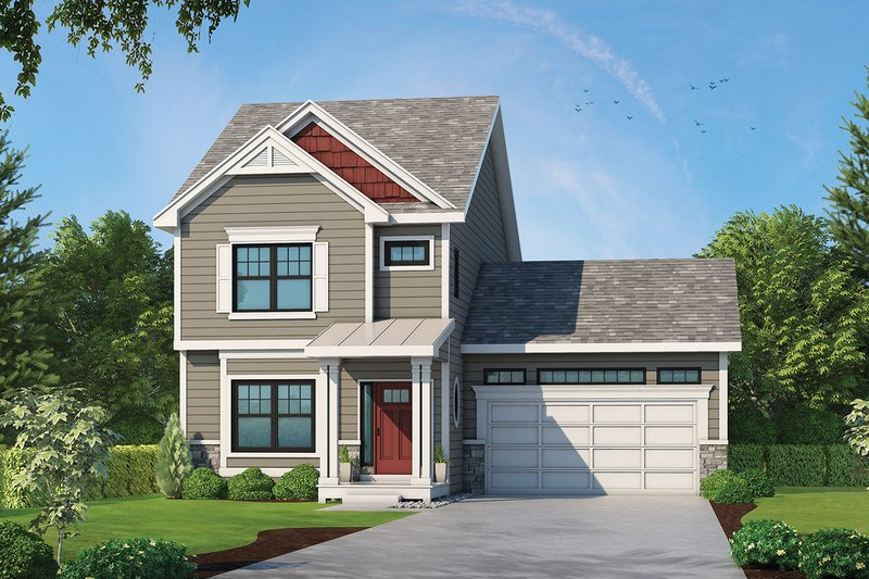 Dream House Plan - Traditional Exterior - Front Elevation Plan #20-2339