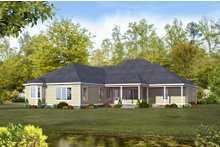 Country Exterior - Rear Elevation Plan #932-23