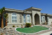 Mediterranean Style House Plan - 4 Beds 3 Baths 2735 Sq/Ft Plan #1-664 Exterior - Front Elevation