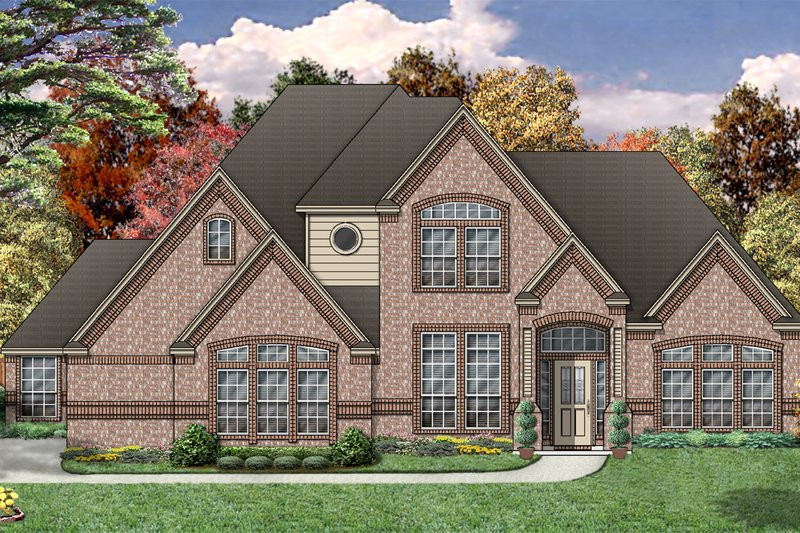 Traditional Exterior - Front Elevation Plan #84-392 - Houseplans.com