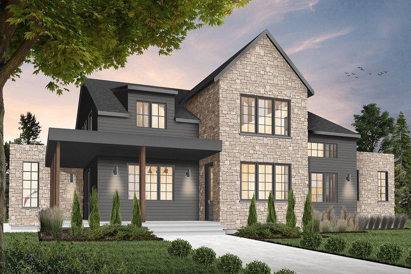 House Plan Design - Farmhouse Exterior - Front Elevation Plan #23-2691