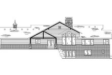 Craftsman Exterior - Rear Elevation Plan #5-249