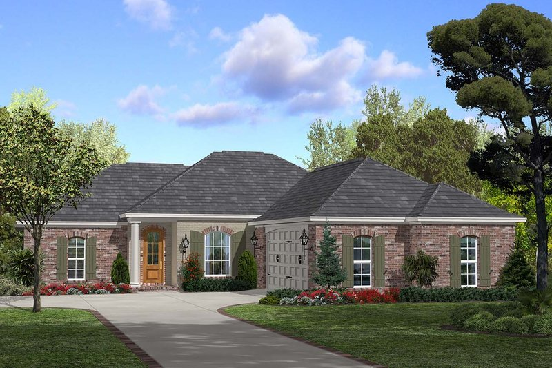 European Exterior - Front Elevation Plan #430-55