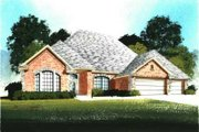 Traditional Style House Plan - 3 Beds 3 Baths 2199 Sq/Ft Plan #65-392 Exterior - Front Elevation