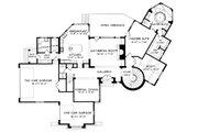 European Style House Plan - 4 Beds 4 Baths 4468 Sq/Ft Plan #413-120 Floor Plan - Main Floor Plan