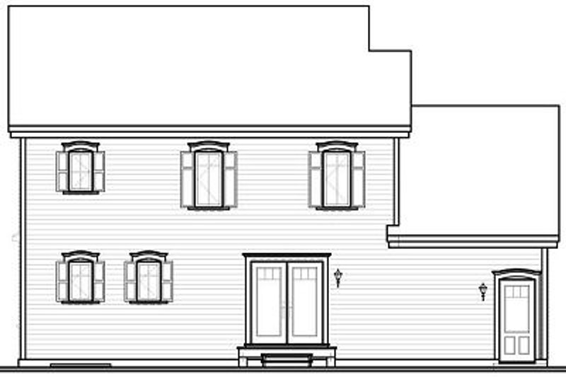 Traditional Exterior - Rear Elevation Plan #23-846 - Houseplans.com