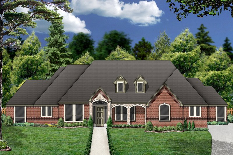 Dream House Plan - European Exterior - Front Elevation Plan #84-404