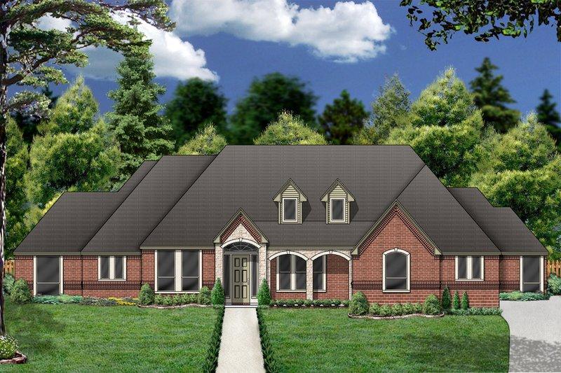 Dream House Plan - European Exterior - Front Elevation Plan #84-404