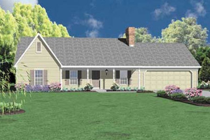 Ranch Exterior - Front Elevation Plan #36-134
