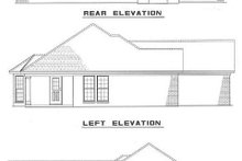 Southern Exterior - Rear Elevation Plan #17-137