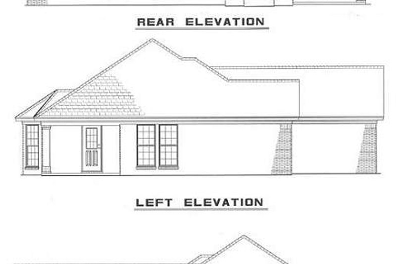 Southern Exterior - Rear Elevation Plan #17-137 - Houseplans.com