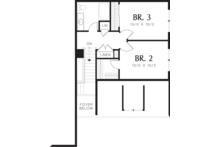 Traditional Floor Plan - Upper Floor Plan Plan #48-568
