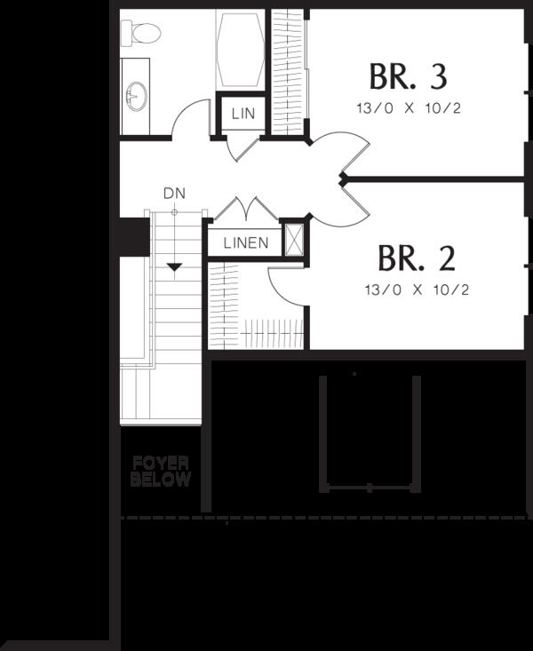Home Plan - Traditional Floor Plan - Upper Floor Plan #48-568