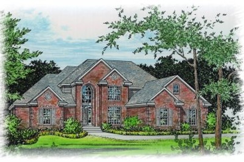 Mediterranean Style House Plan - 5 Beds 3.5 Baths 2644 Sq/Ft Plan #15-254 Exterior - Front Elevation