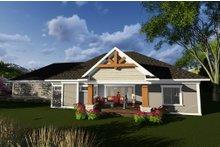 Dream House Plan - Ranch Exterior - Rear Elevation Plan #70-1277
