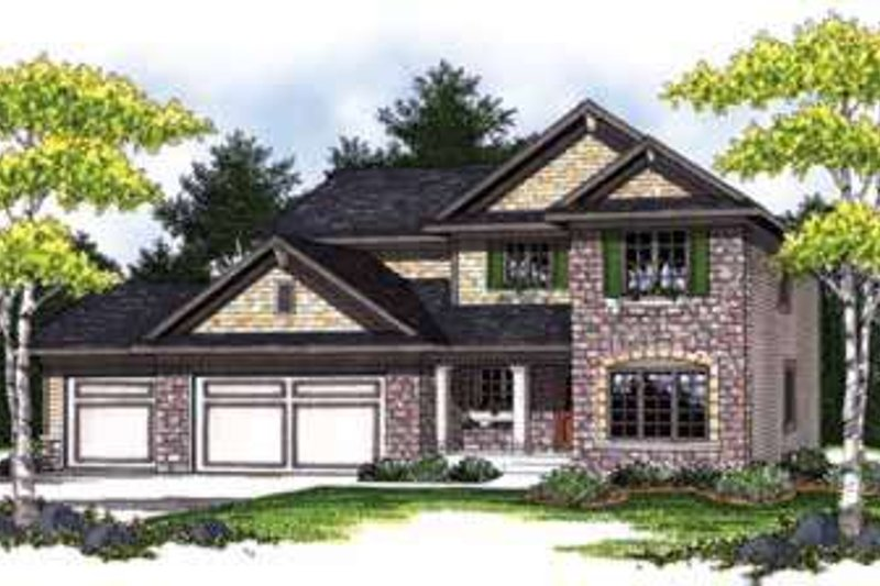 Traditional Exterior - Front Elevation Plan #70-840