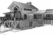 Craftsman Style House Plan - 4 Beds 3.5 Baths 2988 Sq/Ft Plan #451-10 Exterior - Rear Elevation