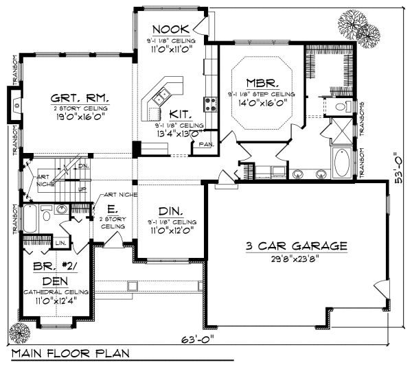 Cottage Floor Plan - Main Floor Plan Plan #70-880