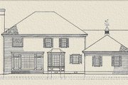 Southern Style House Plan - 3 Beds 3 Baths 3298 Sq/Ft Plan #137-114 Exterior - Rear Elevation