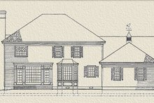 Southern Exterior - Rear Elevation Plan #137-114