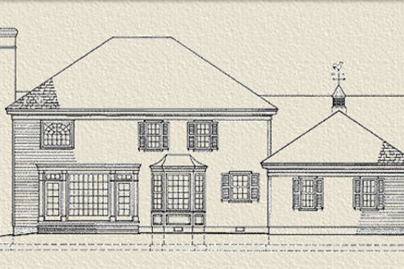 Southern Exterior - Rear Elevation Plan #137-114 - Houseplans.com