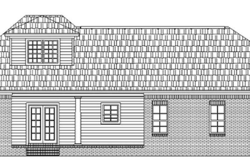 Southern Exterior - Rear Elevation Plan #21-328 - Houseplans.com