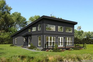 Modern Exterior - Front Elevation Plan #932-393