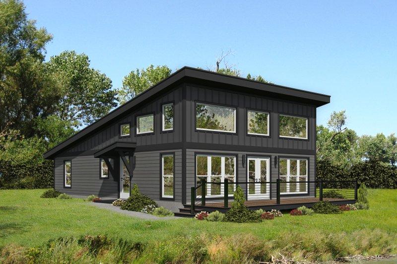 Modern Style House Plan - 1 Beds 2 Baths 1412 Sq/Ft Plan #932-393
