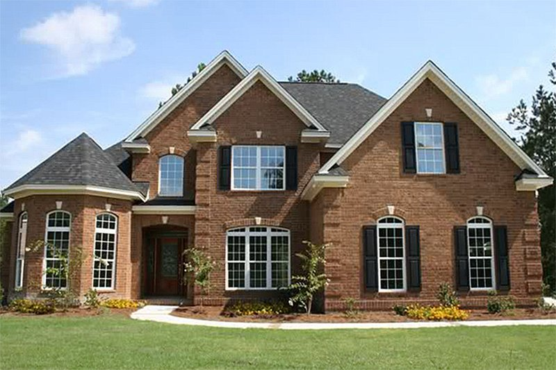 Traditional Exterior - Front Elevation Plan #927-10 - Houseplans.com