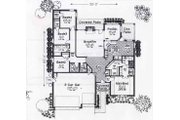 Colonial Style House Plan - 4 Beds 2.5 Baths 2100 Sq/Ft Plan #310-801 Floor Plan - Main Floor