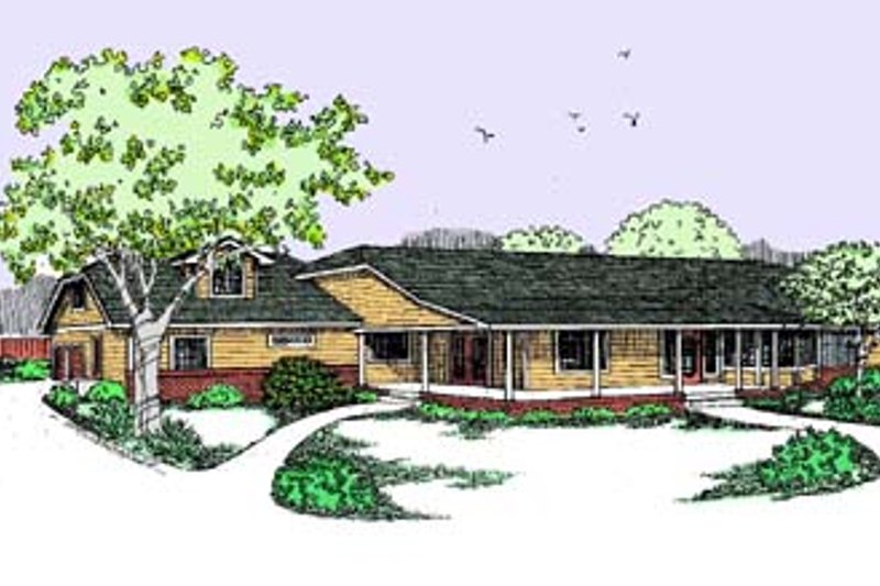 Traditional Exterior - Front Elevation Plan #60-451 - Houseplans.com